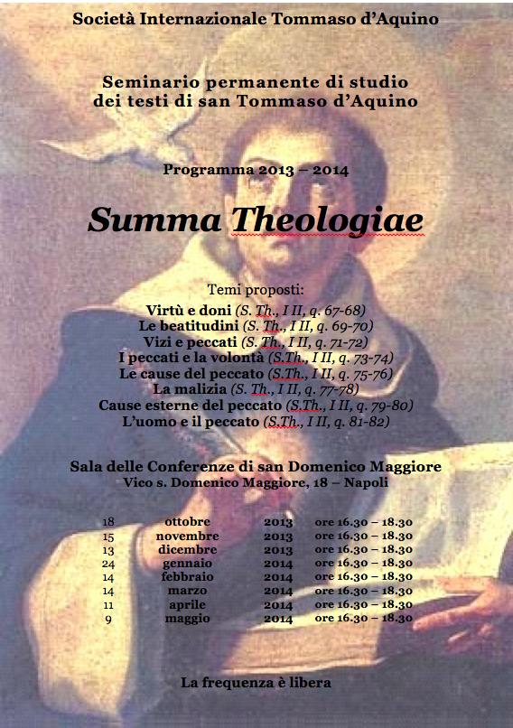 Programma seminari tomistici 2013-2014